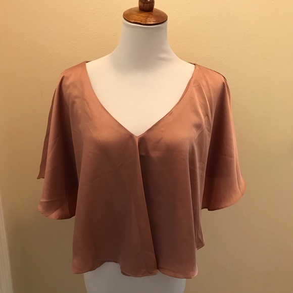 new concept united kingdom sale usa online Rose gold Missguided blouse